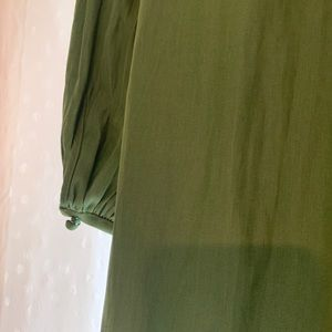 Aritzia Garlyn Dress - L (Sooke Green)
